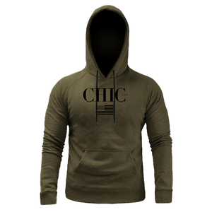 CHIC NYC MAN Fitness Hoodie with USA Flag - Green