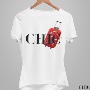 JFK RUNWAY '21 CHIC NYC Tee Shirt - FEATURED IN MILANO SPRING White - Buy for a chance to WIN FASHION SHOW TICKETS