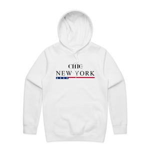 CHIC NYC New York White Hoodie