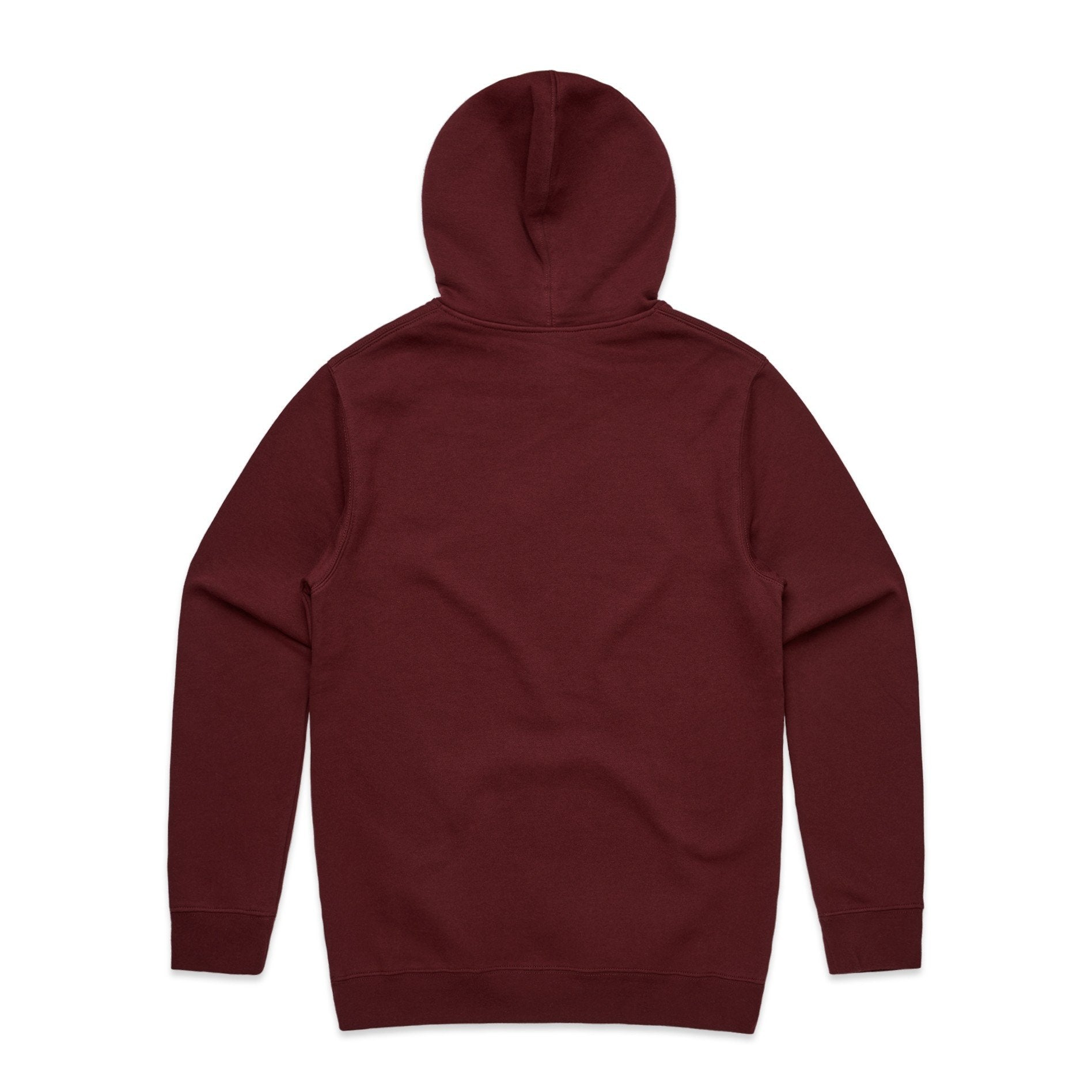 Wine Basic Hoodie with USA Flag