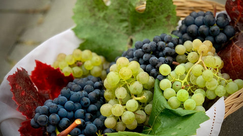 Different colored grapes