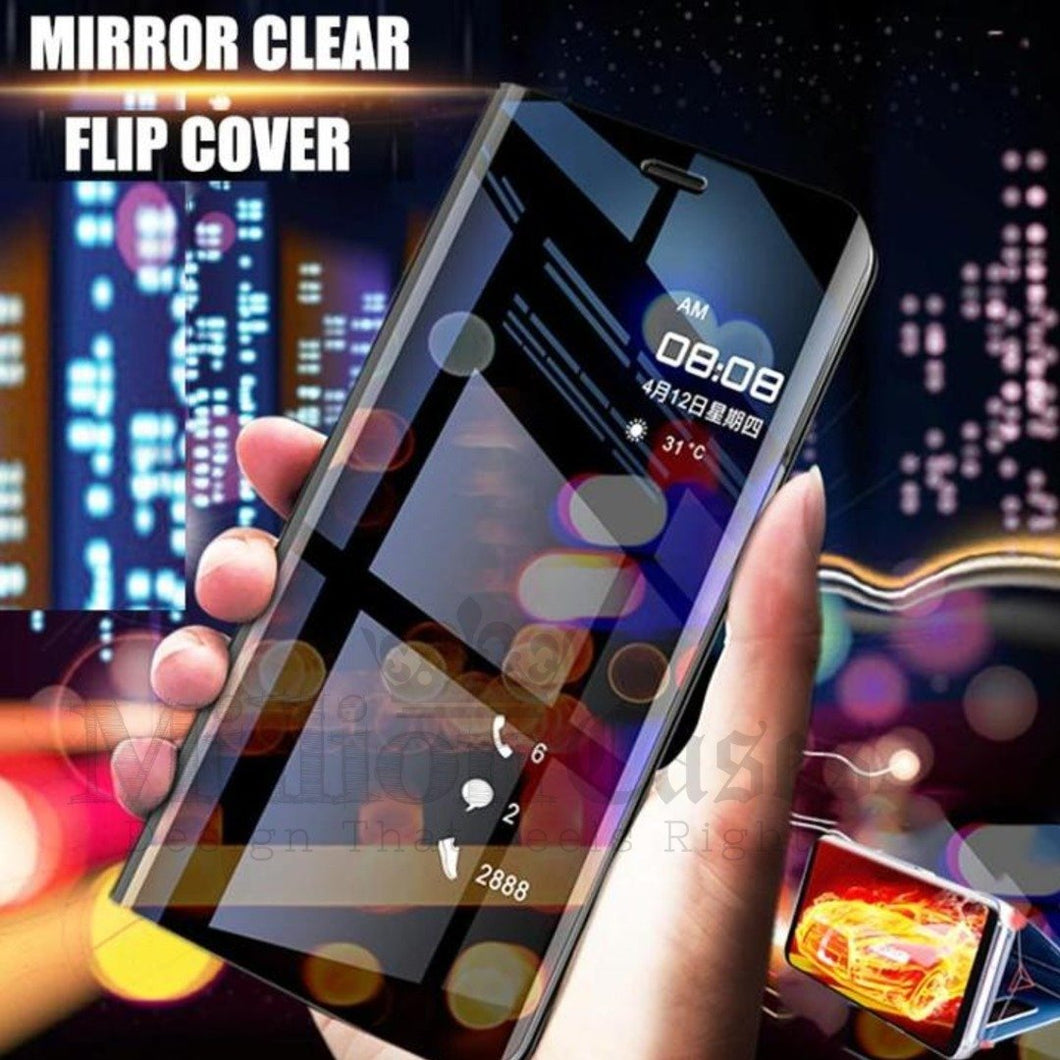 OnePlus 7 Pro Mirror Clear View Flip Case [Non Sensor Working]