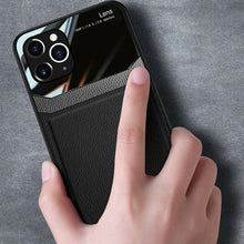 Load image into Gallery viewer, iPhone 12 Series Sleek Slim Leather Glass Case