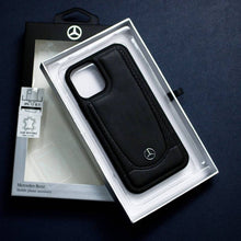 Load image into Gallery viewer, iPhone 12 Series Mercedes Benz Genuine Leather Case