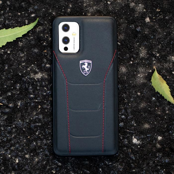 Ferrari ® OnePlus 9 Pro Genuine Leather Crafted Limited Edition Case