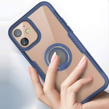 Load image into Gallery viewer, iPhone 12 Shockproof Transparent Metallic Ring Holder Case