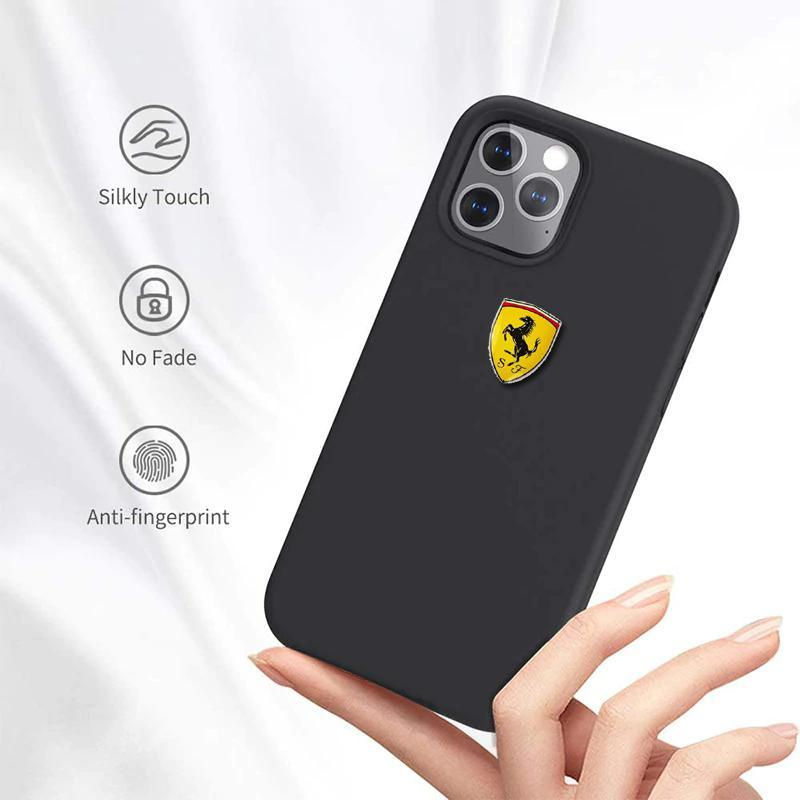 iPhone 12 Series Rigid Ferrari Soft Silicone Case
