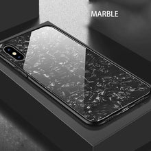 Load image into Gallery viewer, iPhone XS Dream Shell Series Textured Marble Case