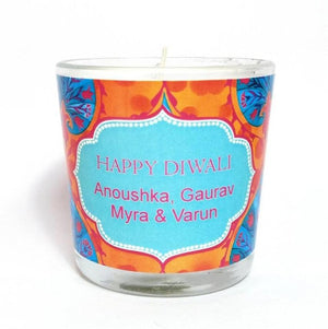 Sia Personalised Diwali Candle Small