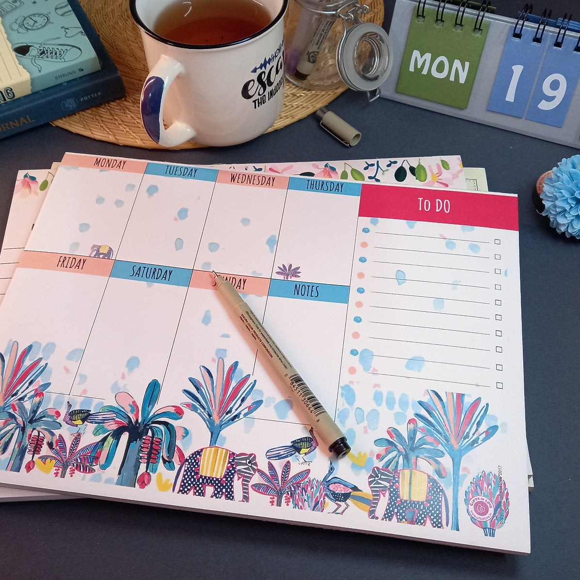 Gifts of Love Notepad Indian Savannah Weekly Planner 11x8.25 inch