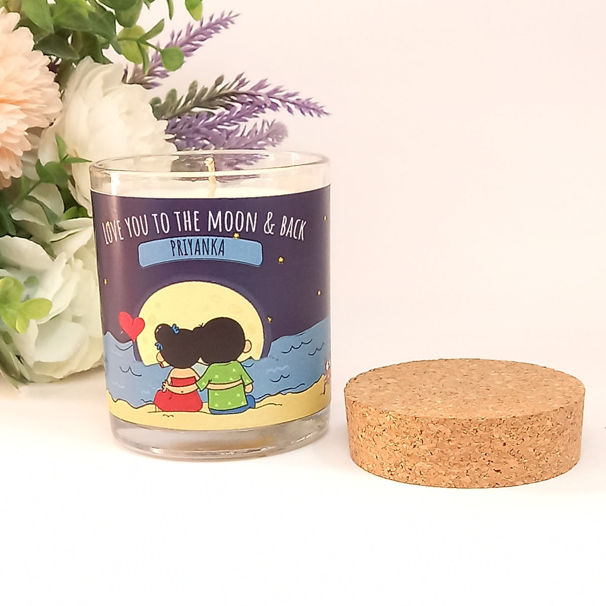 Love You to the Moon and Back | Ahava Personalised Candle