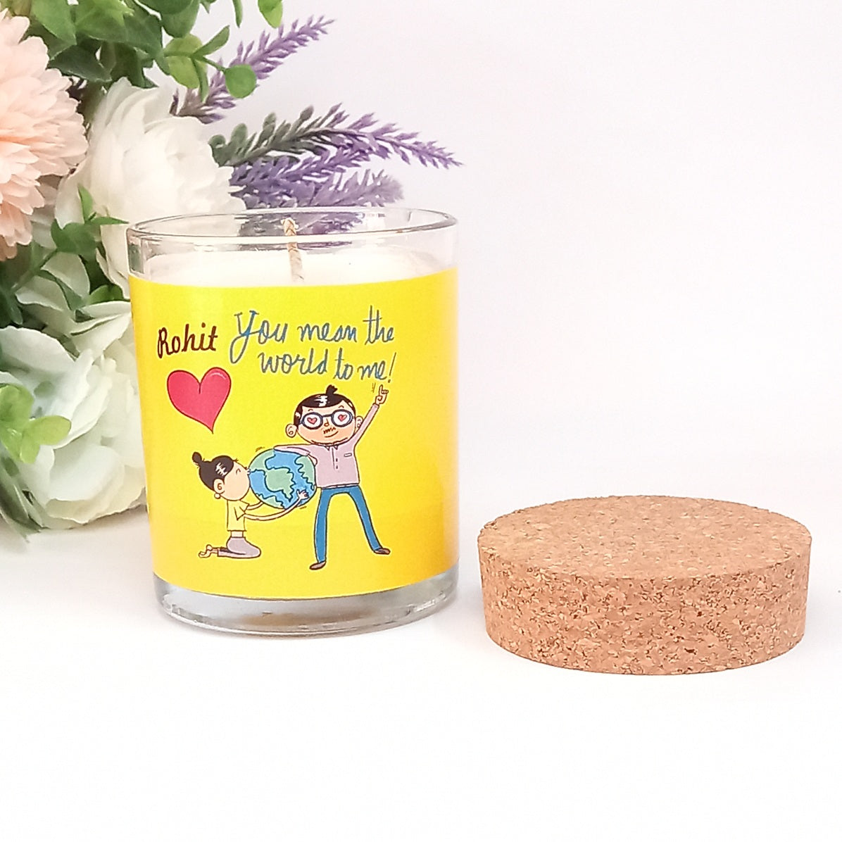 You Mean the World to Me | Ahava Personalised Candle