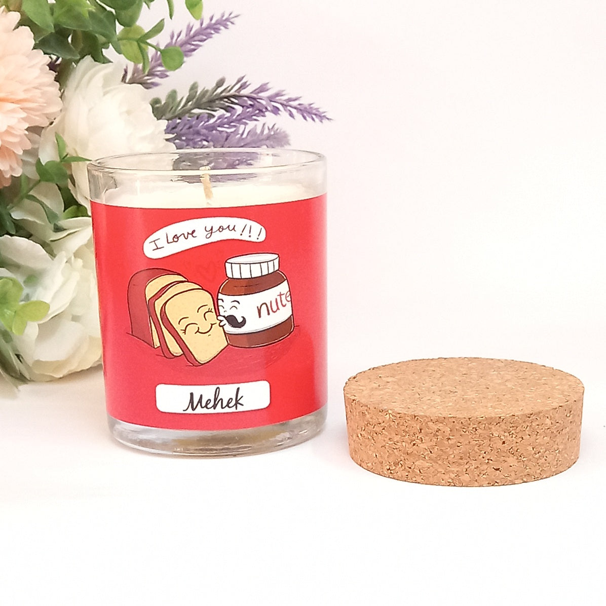 I Love You Personalised Candle