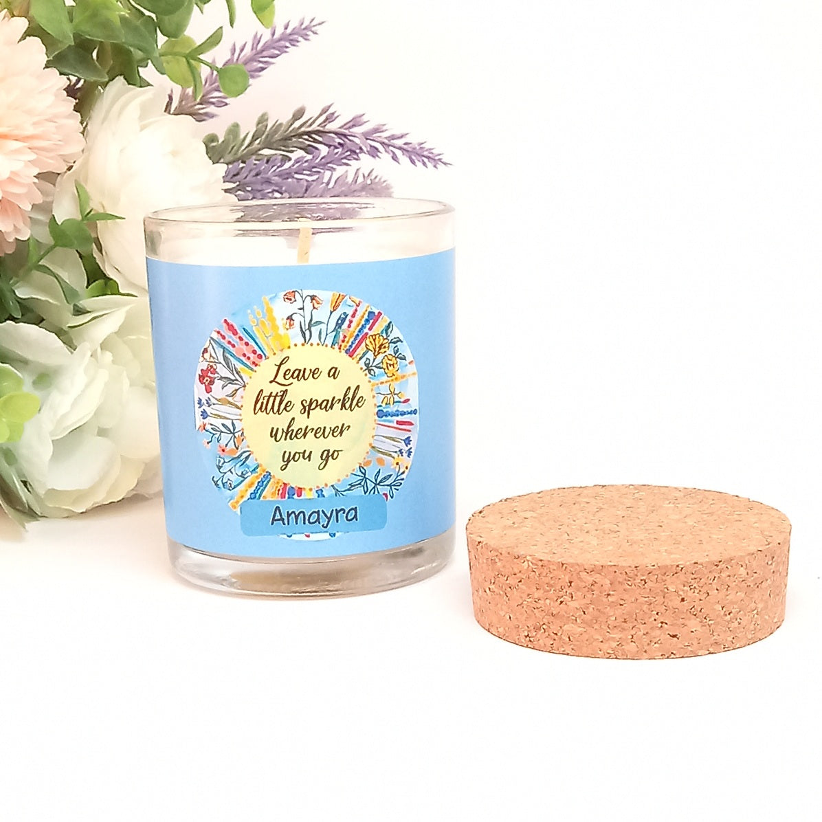 Leave a Little Sparkle Personalised Candle
