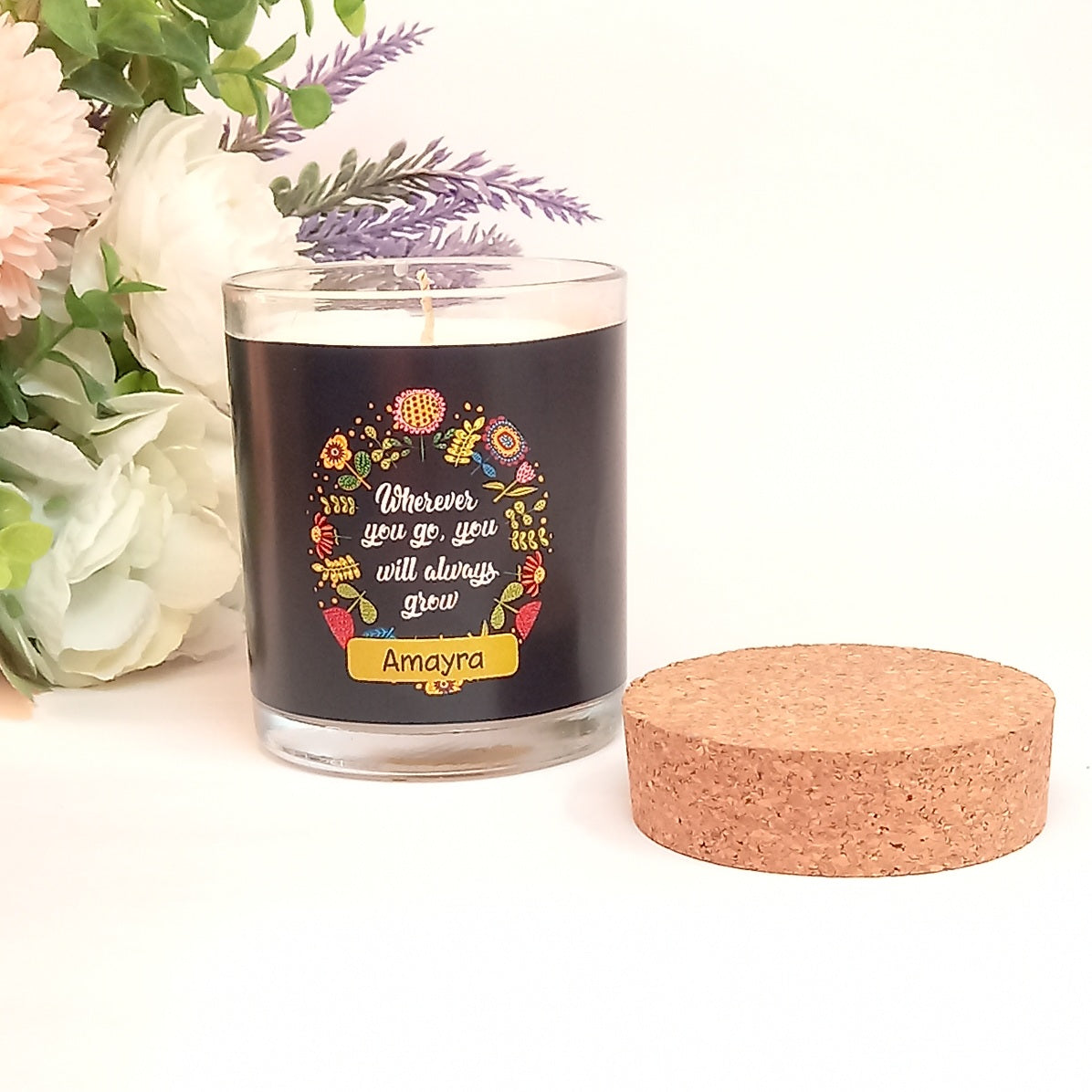 Wherever You Go Personalised Candle