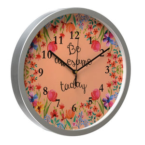 Be Awesome Today - Rosetta Wall Clock