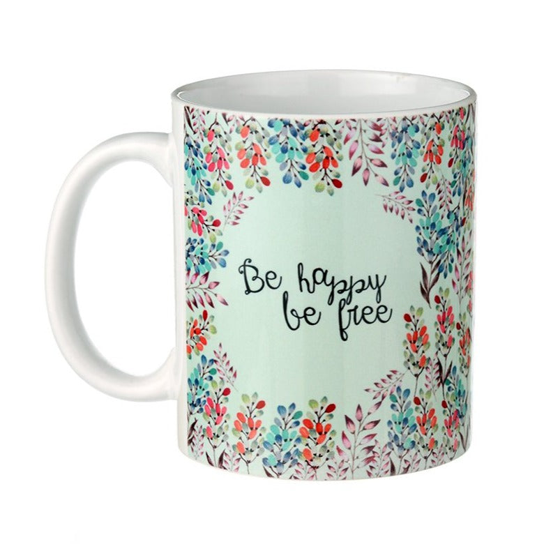 Be Happy Be Free - Rosetta Coffee Mug