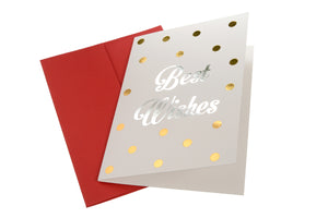 Best Wishes - Dazzle Greeting Card