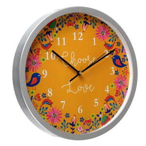 Choose Love - Rosetta Wall Clock