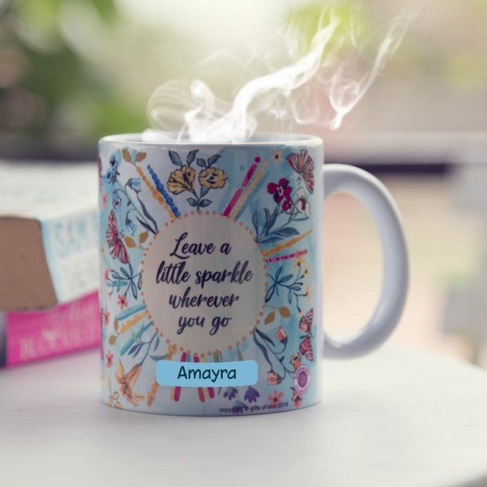 Gifts of Love Personalised Coffee Mug Leave a Little Sparkle