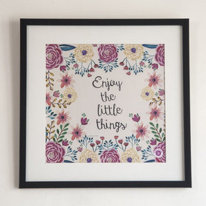 Wall Art Rosetta - Enjoy the little things
