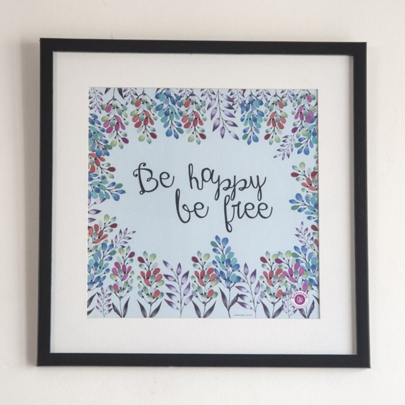 Wall Art Rosetta - Be happy be free