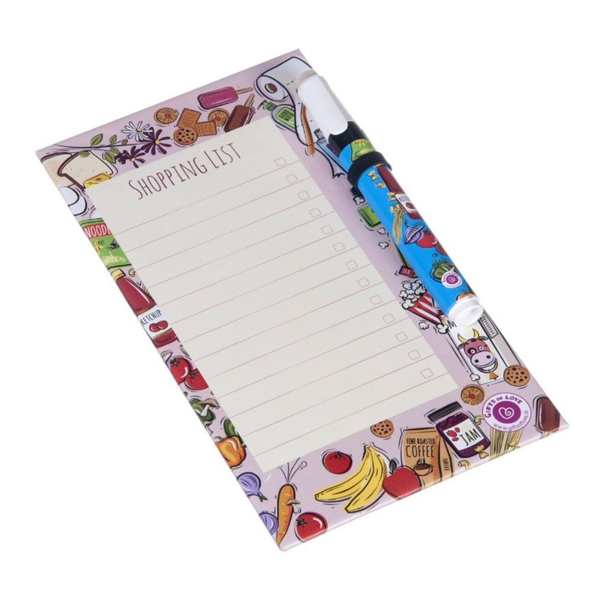 Dry Erase Board Small - Shopping List - Lines