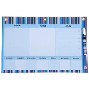 Dry Erase Board Big - Blue Stripe Handy Planner
