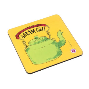 Coaster - Garam Chai - Green Kettle Yellow Base