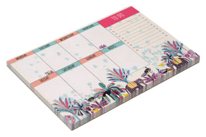 Notepad A6 Weekly Planner Indian Savannah