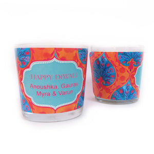 Gifts of Love Personalised Diwali Candle Sia Small