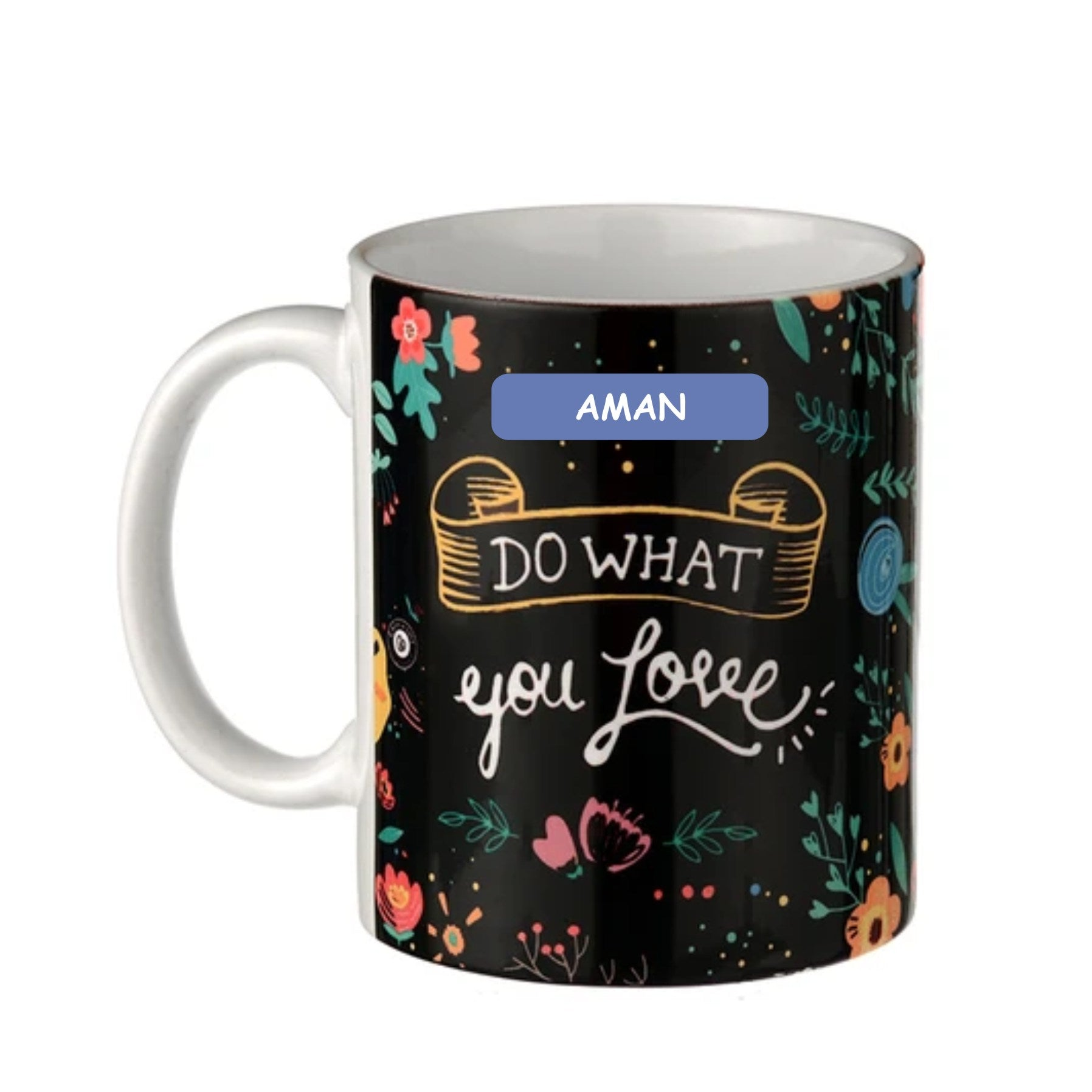 Personalised Coffee Mug Chalk Art Do What You Love