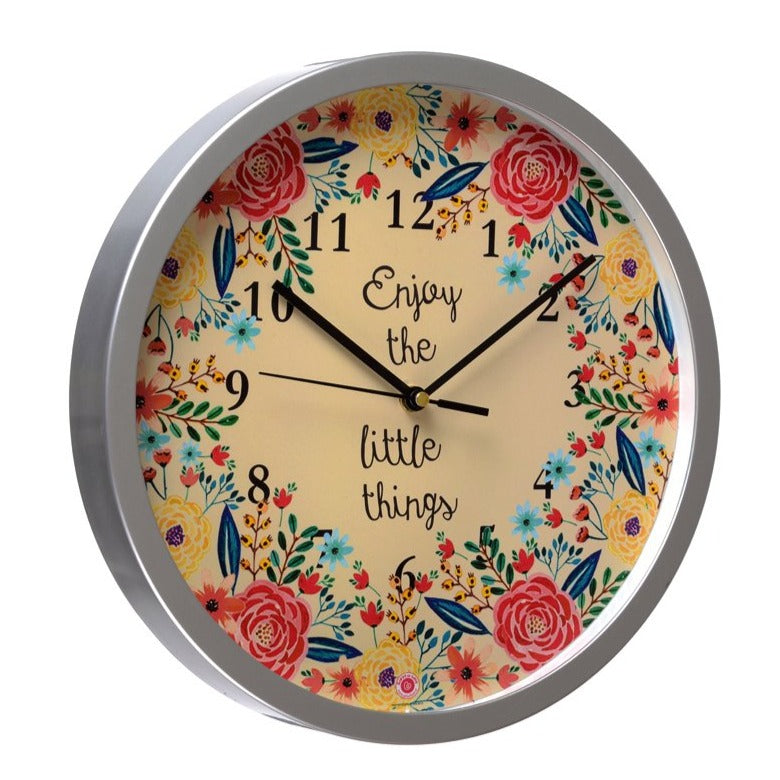 Enjoy the Little Things - Rosetta Wall Clock