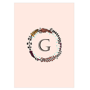 Gifts of Love Notebook Monogram Initial G Laila
