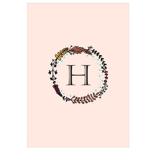 Gifts of Love Notebook Monogram Initial H Laila