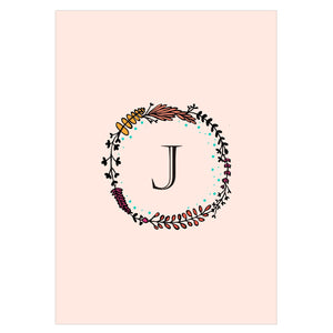 Gifts of Love Notebook Monogram Initial J Laila