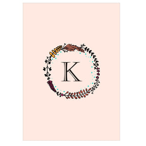 Gifts of Love Notebook Monogram Initial K Laila