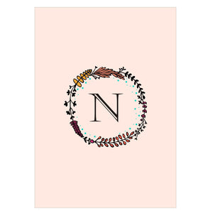 Gifts of Love Notebook Monogram Initial N Laila