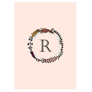 Gifts of Love Notebook Monogram Initial R Laila