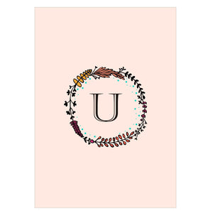 Gifts of Love Notebook Monogram Initial U Laila