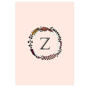 Gifts of Love Notebook Monogram Initial Z Laila