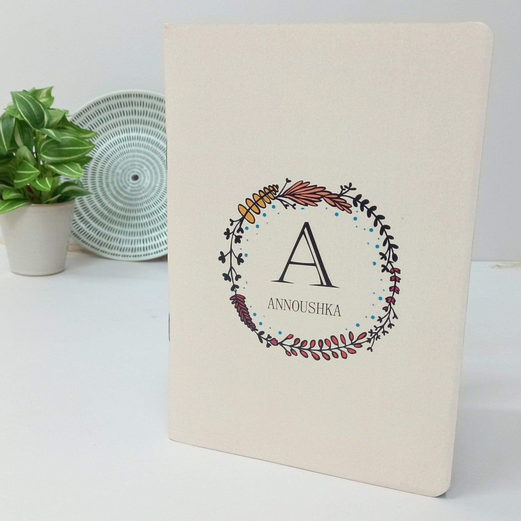 Gifts of Love Notebook Personalised Monogram Laila