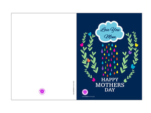 MOM - Love You Mom C&L 5.25x4in - Greeting Card