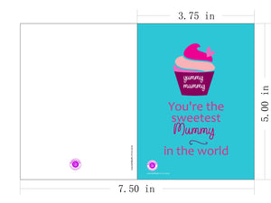 Printable Greeting Card Yummy Mummy 5x3.75in