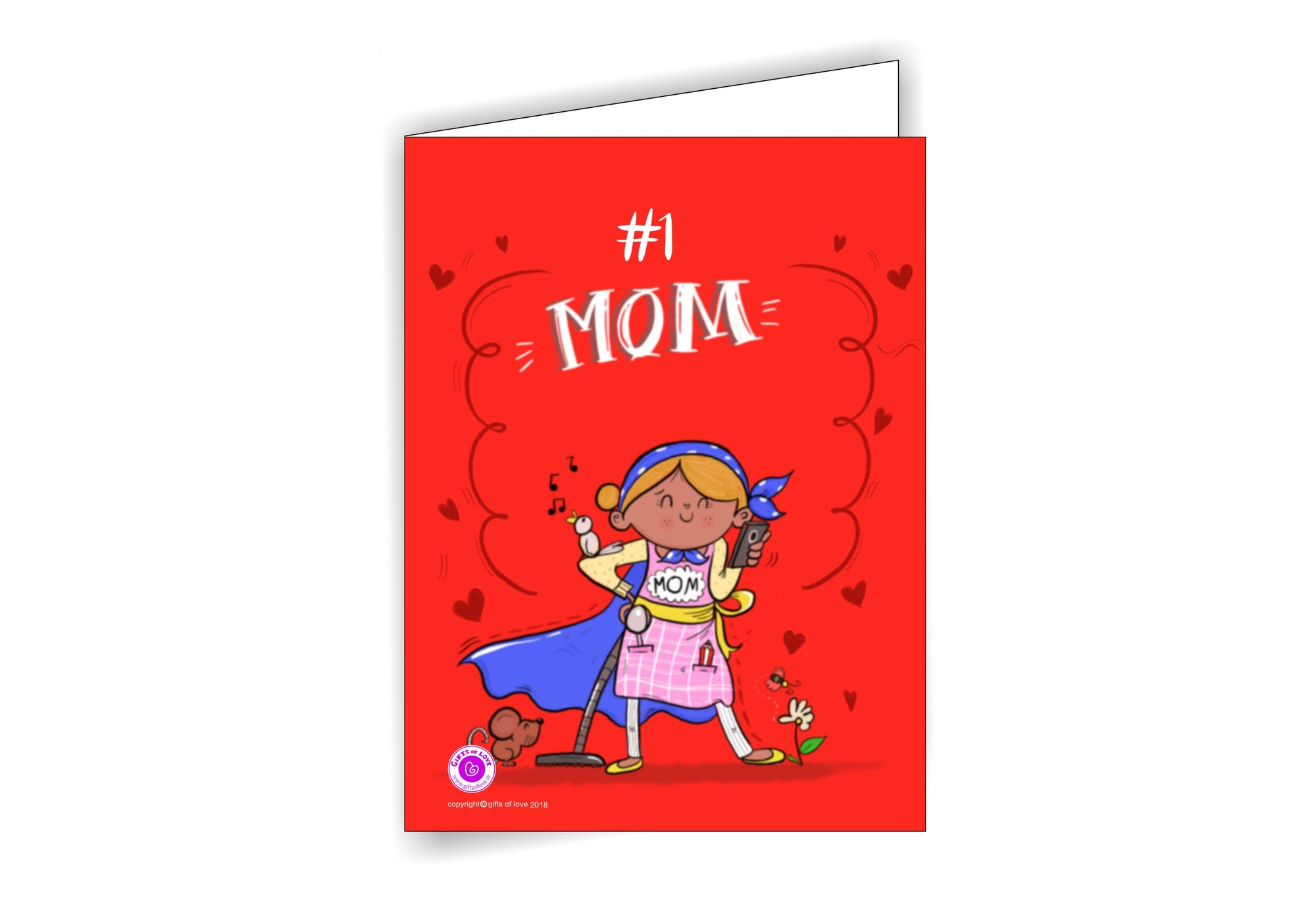 Greeting Card Printable #1 MOM 5x3.75in