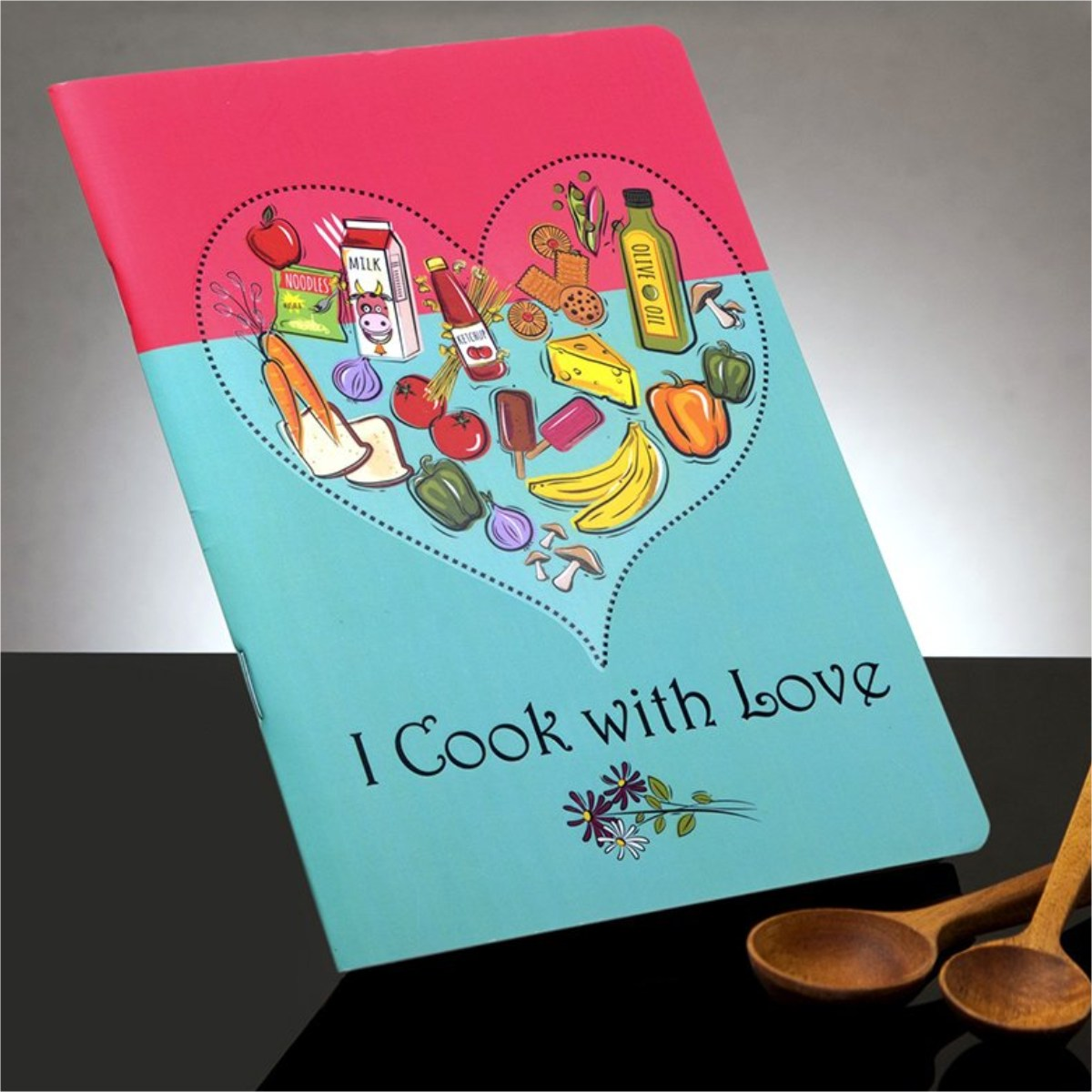 I Cook with Love - Soft Cover Recipe Organiser