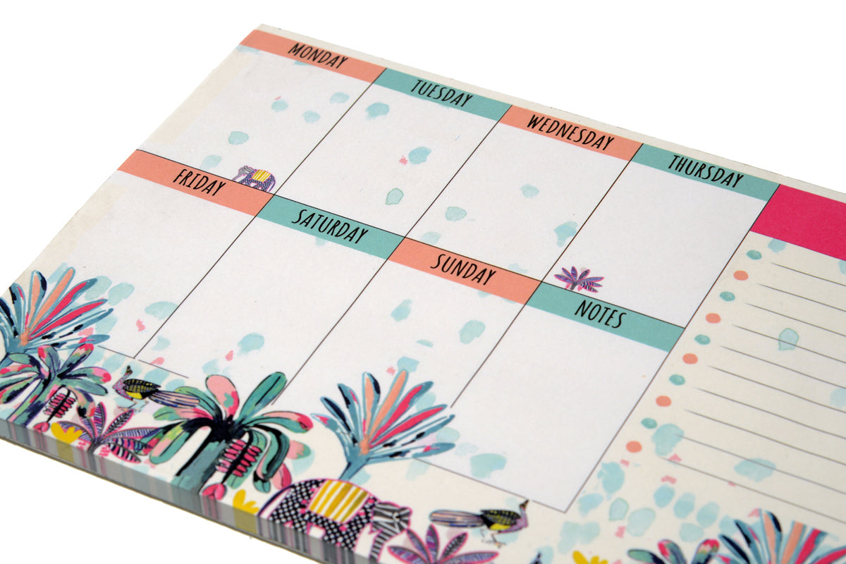 Indian Savannah Weekly Planner - A5 Notepad