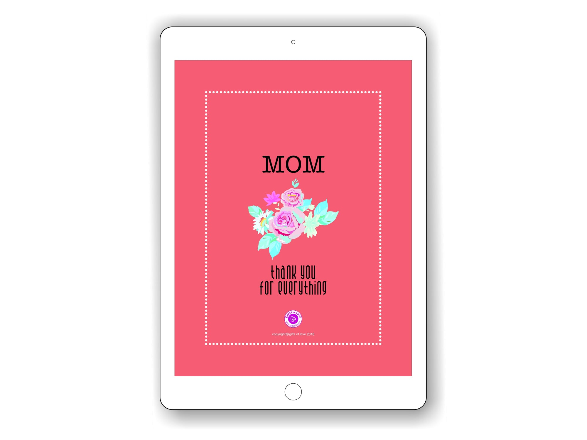 iPad/Tablet Wallpaper Mom Thank You For Everything