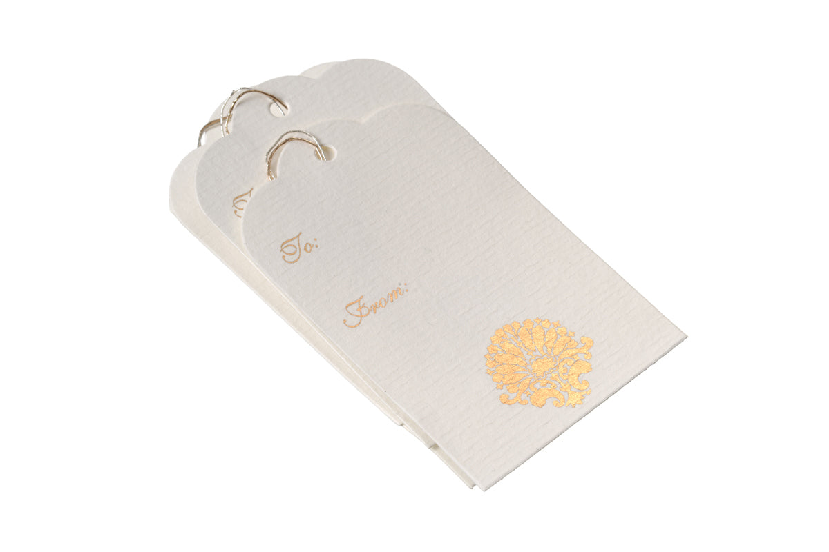 'Ivory' - Set of 3 Gift Tag