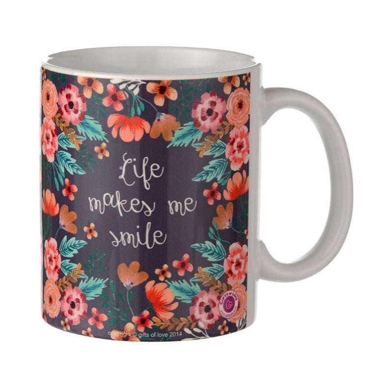 Life Makes Me Smile - Rosetta Coffee Mug